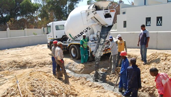 concrete truck delivery
