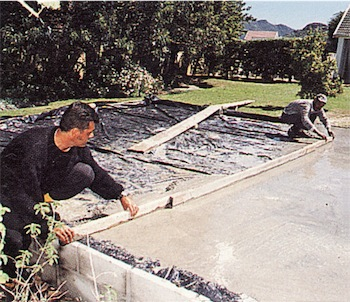 level and smooth concrete