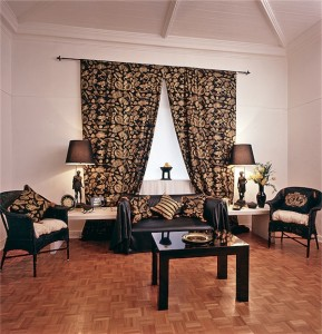 a parquet wooden floor