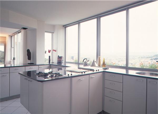 windows in a kitchen