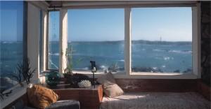 see through windows to the sea