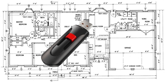 Flash drive with plans