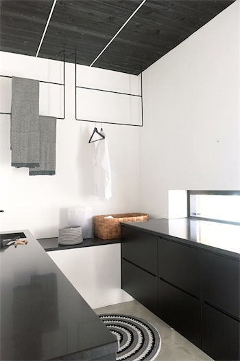 Black minimalist Decor kitchen