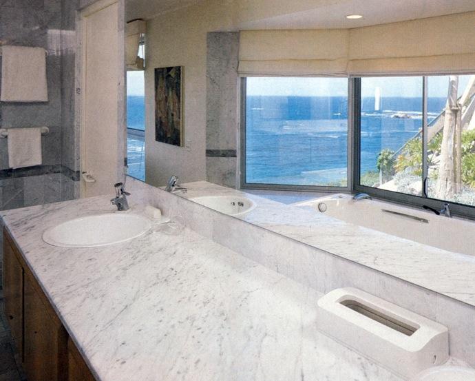 Marble bathroom storage