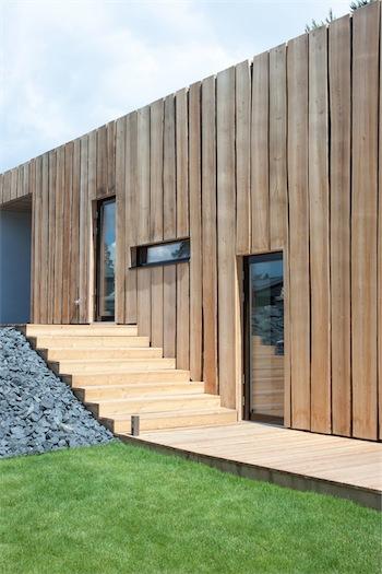 Black minimalist house exterior