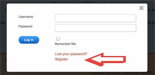 Register-pop-up