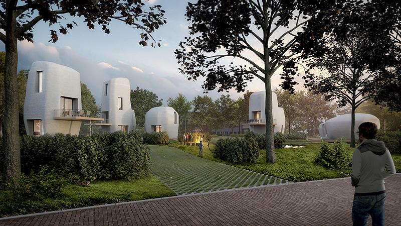 3D concrete houses